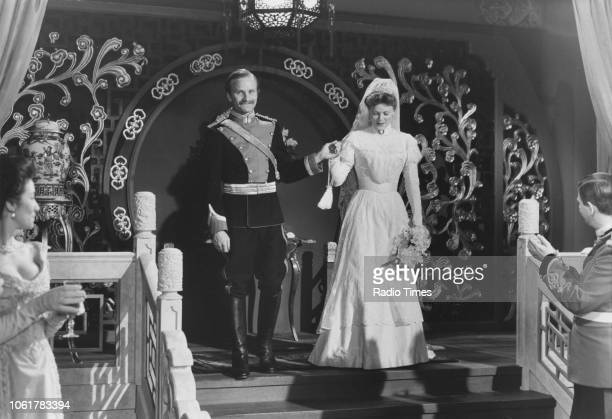 Actress Samantha Bond in a wedding scene from episode one of the television series 'The Ginger Tree' August 9th 1989