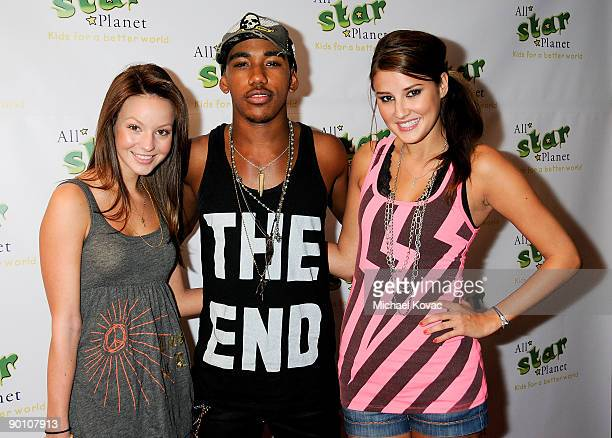 Actress Samantha Droke, Actor Brandon Smith, and Zoe Myers arrive at the All Star Planet Finals and Gala Celebration at the LAX Marriott Hotel on...