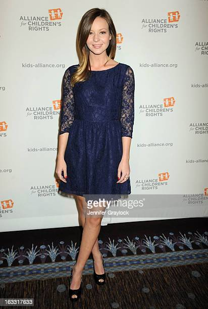 Actress Samantha Droke attends The Alliance For Children's Rights 21st Annual Dinner held at The Beverly Hilton Hotel on March 7 2013 in Beverly...
