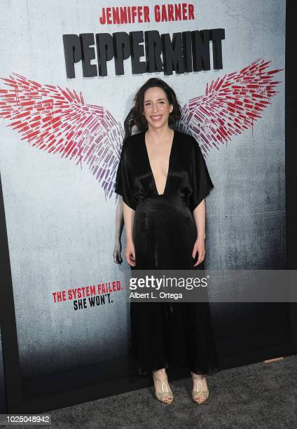 Actress Samantha Edelstein arrives for the Premiere Of STX Entertainment's Peppermint held at Stadium 14 on August 28 2018 in Los Angeles California