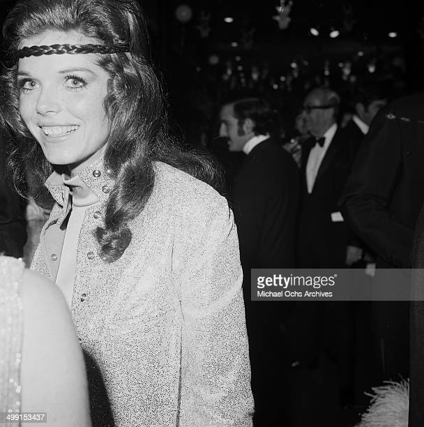 Actress Samantha Eggar attends a party in Los AngelesCalifornia