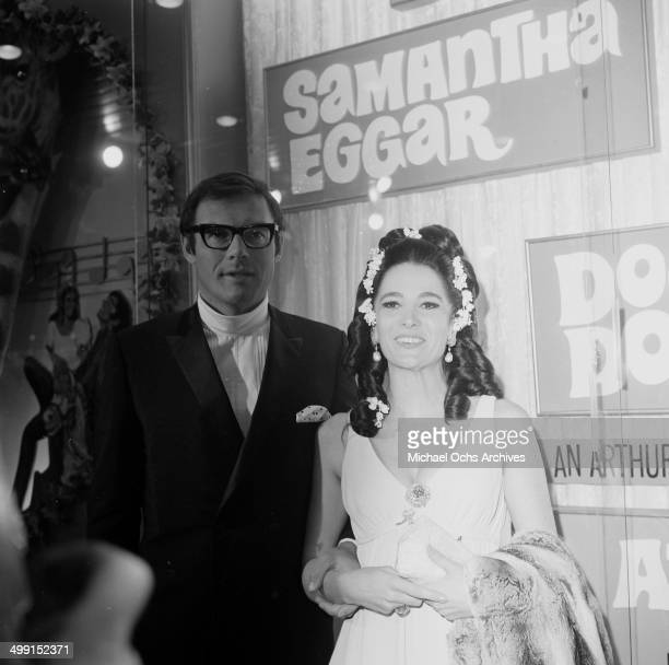 Actress Samantha Eggar attends the premier of Doctor Dolittle in Los AngelesCalifornia