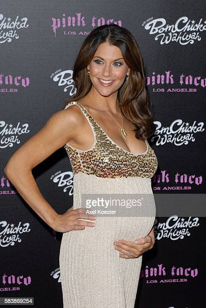 Actress Samantha Harris arrives to the opening of Harry Morton's Pink Taco restaurant in the Westfield Century City Mall