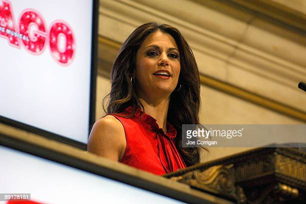 Actress Samantha Harris rings the opening bell at the New York Stock Exchange on July 21, 2009 in New York City.