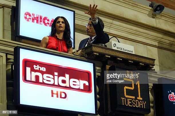 Actress Samantha Harris rings the opening bell at the New York Stock Exchange on July 21 2009 in New York City
