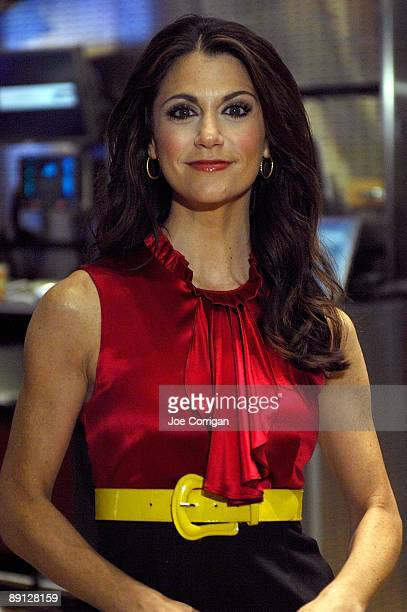 Actress Samantha Harris stands on the floor at the New York Stock Exchange on July 21, 2009 in New York City.
