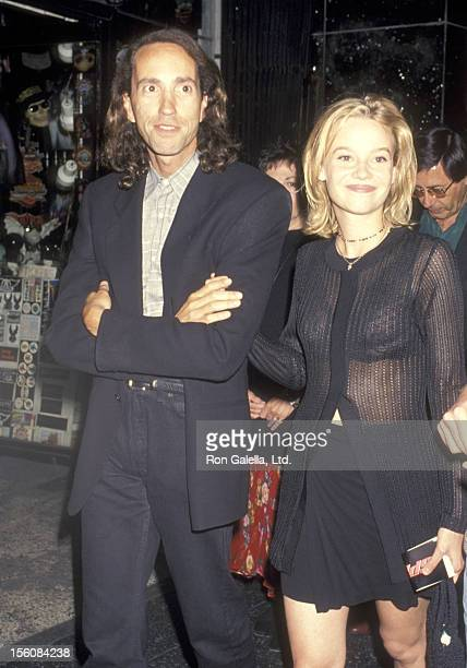 Actress Samantha Mathis and guest attend the 'Speed' Hollywood Premiere on June 7 1994 at Mann's Chinese Theatre in Hollywood California