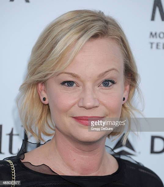 Actress Samantha Mathis arrives at the 3rd Annual Reel Stories Real Lives event at Milk Studios on April 5 2014 in Hollywood California