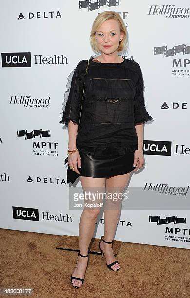Actress Samantha Mathis arrives at the MPTF Reel Stories, Real Lives Event at Milk Studios on April 5, 2014 in Los Angeles, California.