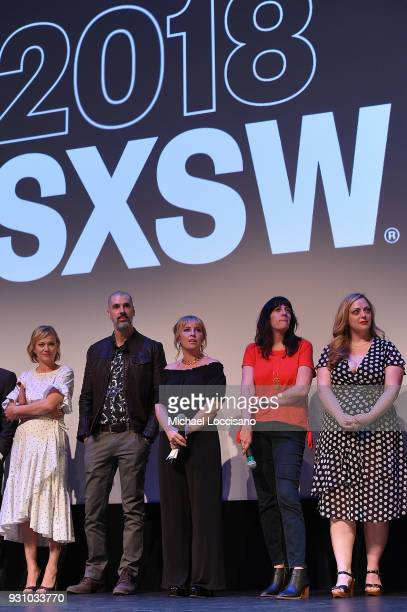 Actress Samantha Mathis screenwriter Glen Lakin director Miranda Bailey and producers Amanda Marshall and Danielle Blumstein take part in a QA...