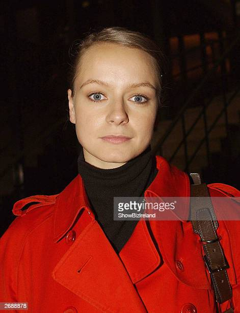 UK actress Samantha Morton appears on 'The Late Late Show' at RTE studios on October 31 2003 in Dublin Ireland