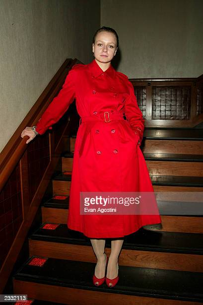 Actress Samantha Morton at a screening for Morvern Callar at the Tribeca Grand Screening Room in New York City October 19 2002 Photo by Evan...