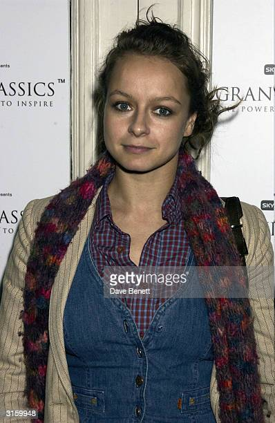 Actress Samantha Morton attends her Grand Classic film festival her choice was 'Ladybird Ladybird' a Ken Loach movie on April 10 2003 in London