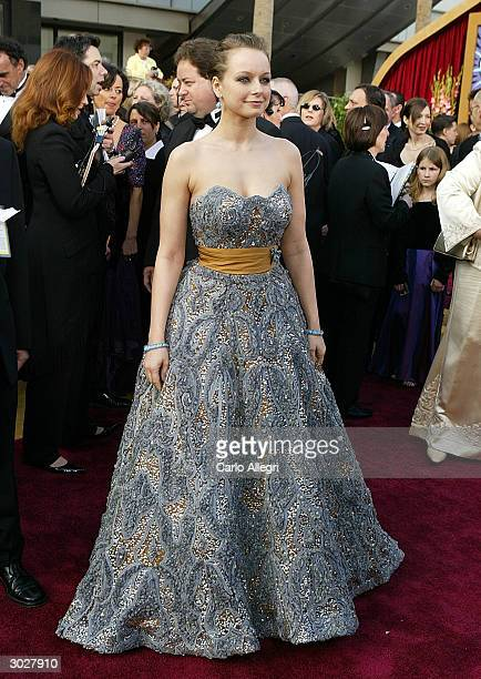 Actress Samantha Morton attends the 76th Annual Academy Awards at the Kodak Theater on February 29 2004 in Hollywood California