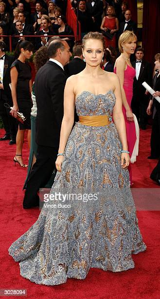 Actress Samantha Morton nominated for Best Actress for her performance in In America attends the 76th Annual Academy Awards at the Kodak Theater on...