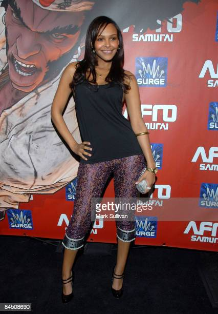 Actress Samantha Mumba attends the launch party for 'Afro Samurai' for Xbox 360 and Playstation 3 at the Geisha House on January 27 2009 in Hollywood...