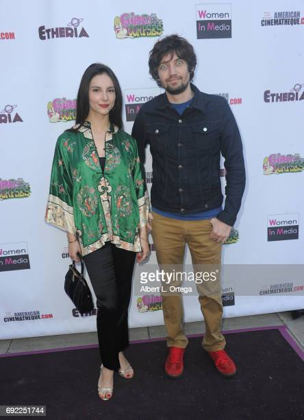 Actress Samantha Robinson and director Jackson Stewart arrive for Etheria Film Night held at The Egyptian Theatre on June 3 2017 in Los Angeles...
