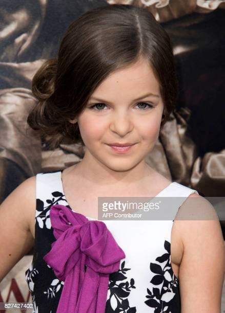 Actress Samara Lee attends the premiere of 'Annabelle Creation' on August 7 in Hollywood California / AFP PHOTO / VALERIE MACON