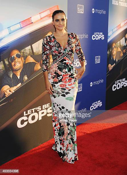 Actress Samara Saraiva attends the 'Let's Be Cops' Los Angeles Premiere held at the ArcLight Hollywood on August 7 2014 in Hollywood California
