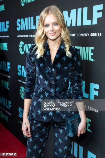 Actress Samara Weaving arrives for the Premiere Of Showtime's 'SMILF' at the Harmony Gold Theater on October 9 2017 in Los Angeles California