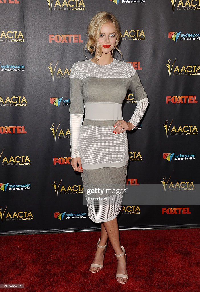 Actress Samara Weaving attends the AACTA International Awards at Avalon Hollywood on January 29, 2016 in Los Angeles, California.