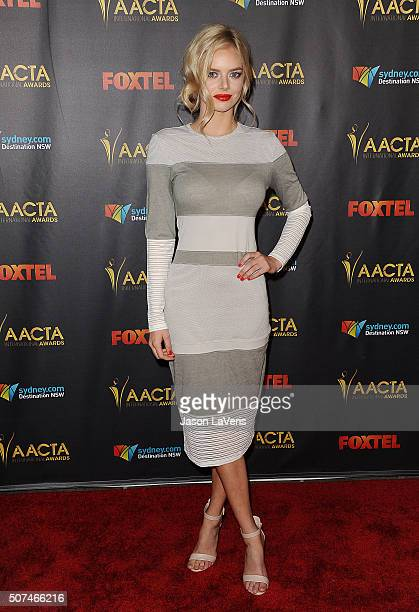 Actress Samara Weaving attends the AACTA International Awards at Avalon Hollywood on January 29 2016 in Los Angeles California