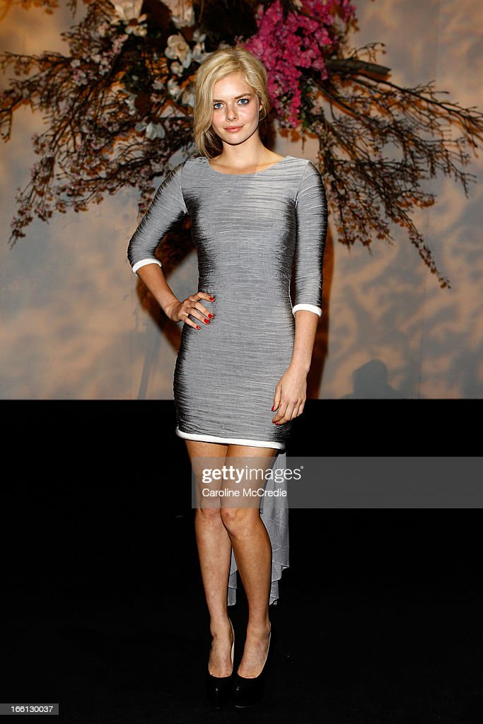 Actress Samara Weaving attends the Aje show during Mercedes-Benz Fashion Week Australia Spring/Summer 2013/14 at Carriageworks on April 9, 2013 in Sydney, Australia.