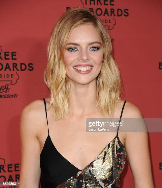 Actress Samara Weaving attends the premiere of 'Three Billboards Outside Ebbing Missouri' at NeueHouse Hollywood on November 3 2017 in Los Angeles...