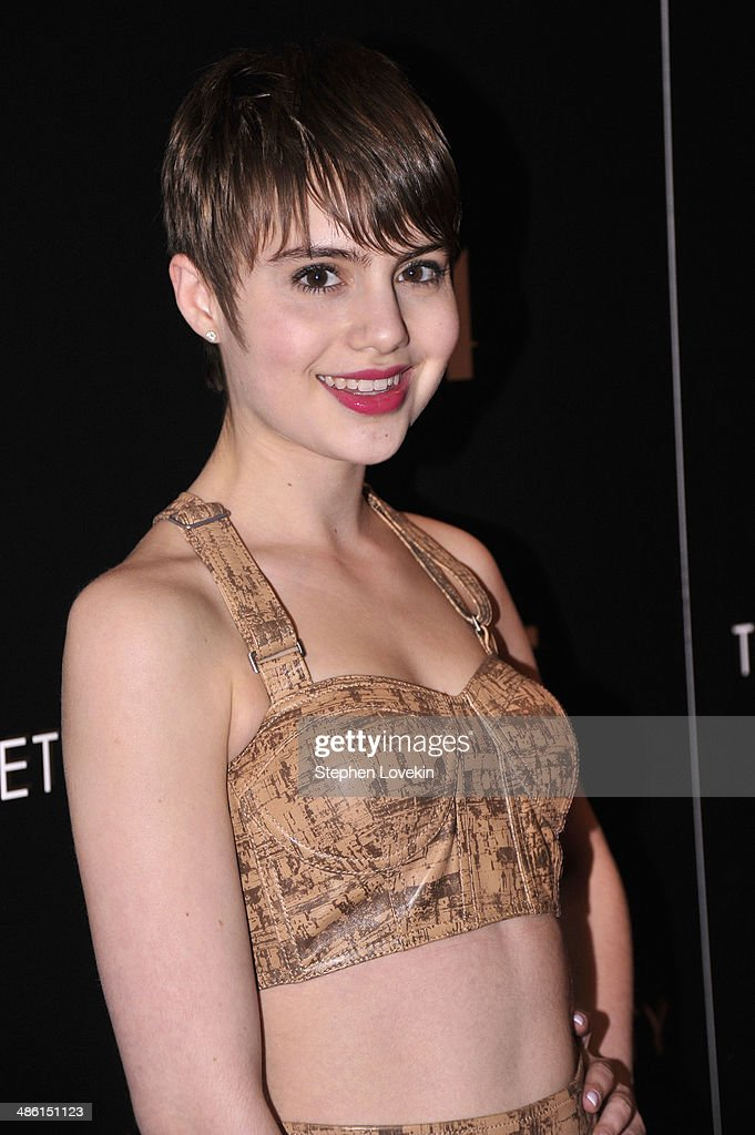 Actress Sami Gayle attends the A24 and The Cinema Society premiere of 'Locke' at The Paley Center for Media on April 22, 2014 in New York City.