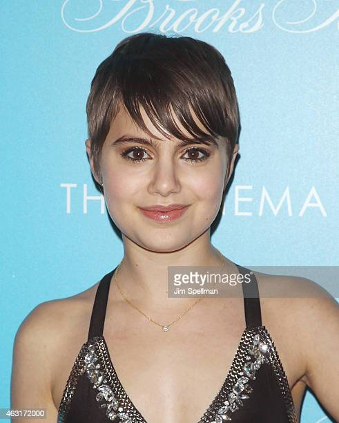 """Actress Sami Gayle attends The Cinema Society and Brooks Brothers host a screening of """"The Rewrite"""" at Landmark's Sunshine Cinema on February 10,..."""