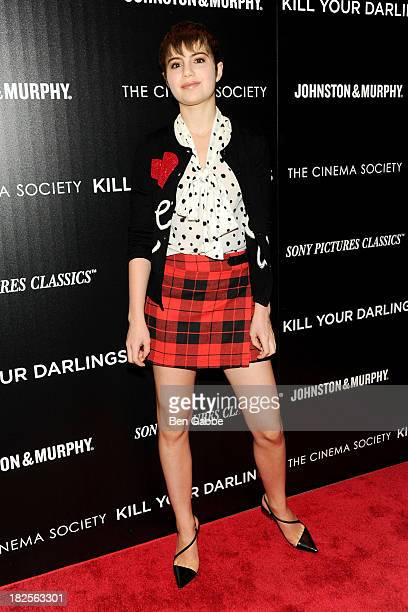 """Actress Sami Gayle attends The Cinema Society and Johnston & Murphy host a screening of Sony Pictures Classics' """"Kill Your Darlings"""" at the Paris..."""