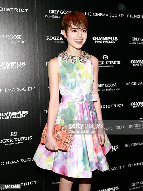 Actress Sami Gayle attends The Cinema Society with Roger Dubuis and Grey Goose screening of FilmDistrict's 'Olympus Has Fallen' at the Tribeca Grand...