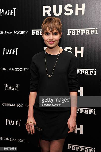 Actress Sami Gayle attends the Ferrari and The Cinema Society Screening of Rush at Chelsea Clearview Cinemas on September 18 2013 in New York City