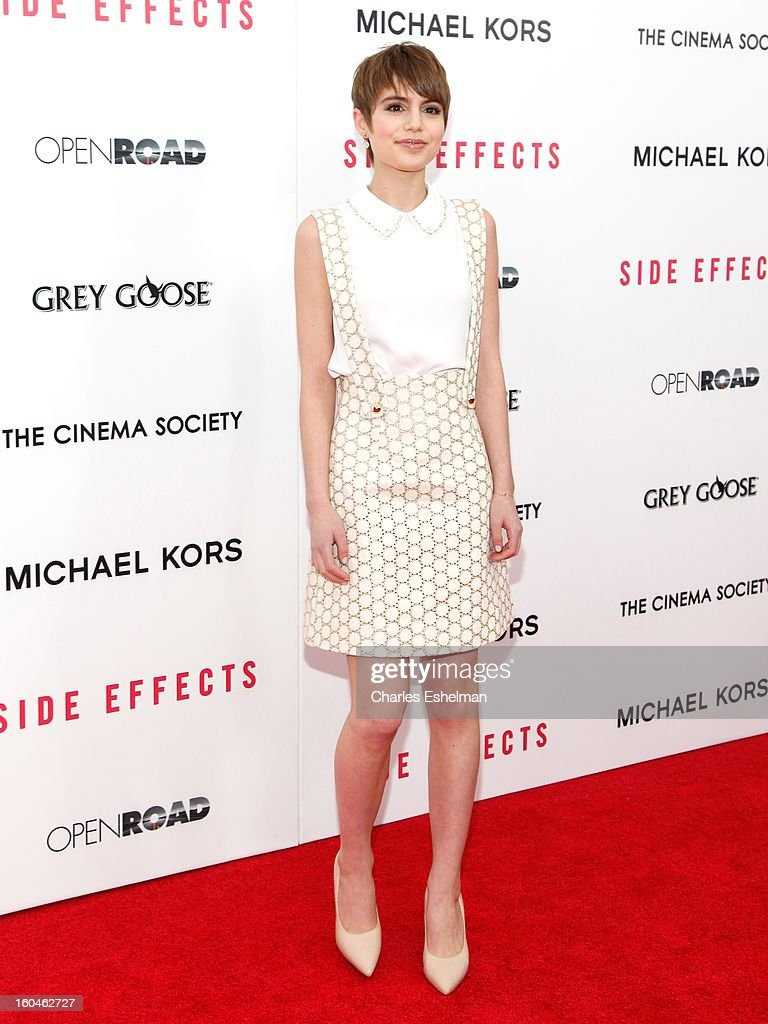 Actress Sami Gayle attends the Open Road, The Cinema Society & Michael Kors premiere of 'Side Effects' at AMC Loews Lincoln Square on January 31, 2013 in New York City.
