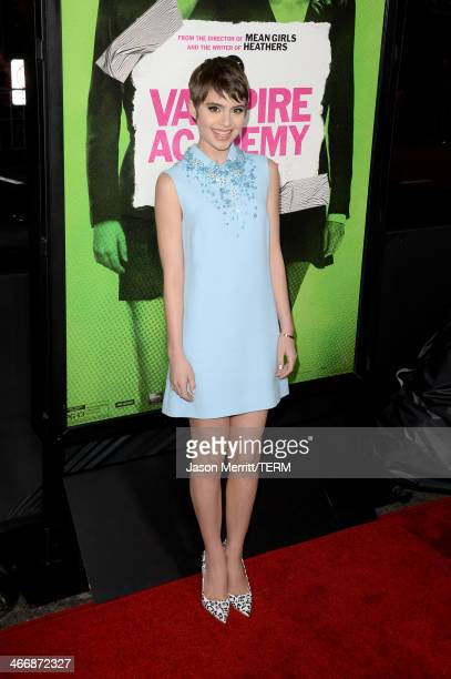 """Actress Sami Gayle attends the premiere of The Weinstein Company's """"Vampire Academy"""" at Regal Cinemas L.A. Live on February 4, 2014 in Los Angeles,..."""