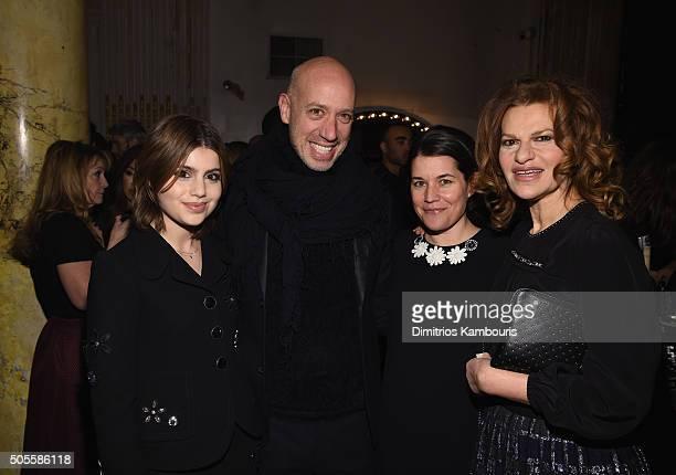 Actress Sami Gayle TV Personality Robert Verdi writer Sara Switzer and actress Sandra Bernhard attend Marc Jacobs Beauty Velvet Noir Mascara Launch...