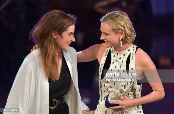 Actress Samia Chancrin and Diane Kruger during the Bayerischer Filmpreis 2017 at Prinzregententheater on January 19 2018 in Munich Germany