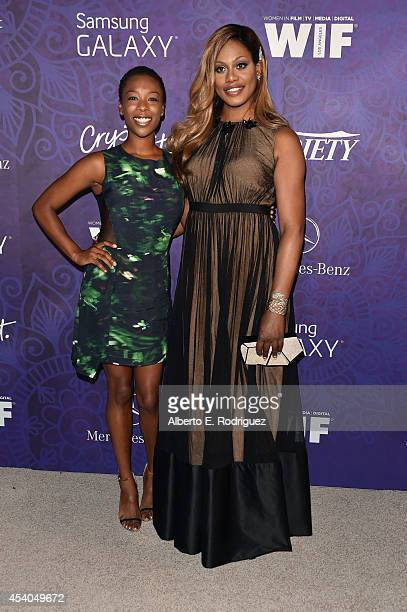 Actress Samira Wiley and actress Laverne Cox attend Variety and Women in Film Emmy Nominee Celebration powered by Samsung Galaxy on August 23 2014 in...