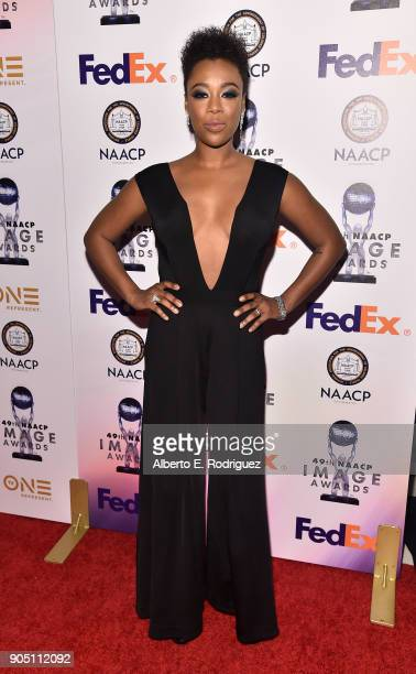 Actress Samira Wiley attends the 49th NAACP Image Awards NonTelevised Award Show at The Pasadena Civic Auditorium on January 14 2018 in Pasadena...
