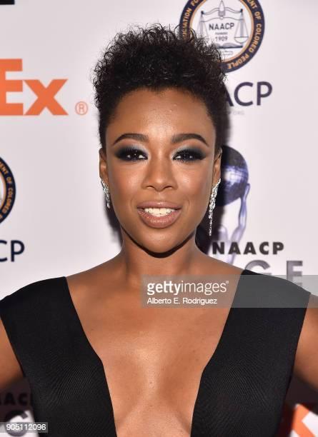 Actress Samira Wiley attends the 49th NAACP Image Awards NonTelevised Award Show at The Pasadena Civic Auditorium on January 14 2018 in Pasadena...