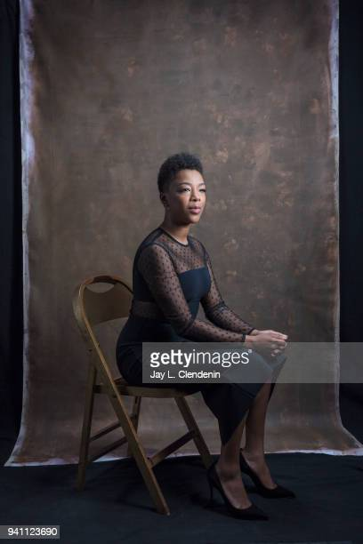 Actress Samira Wiley of 'The Handmaid's Tale' is photographed for Los Angeles Times on March 17 2018 at the PaleyFest at the Dolby Theatre in...