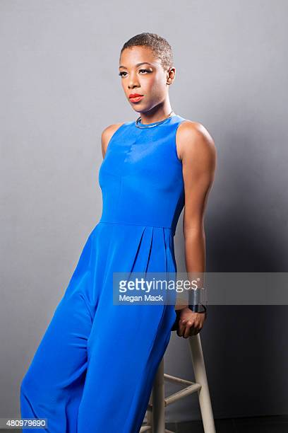 Actress Samira Wiley poses for a portrait at the Logo TV's Trailblazers at the Cathedral of St John the Divine on June 25 2015 in New York City