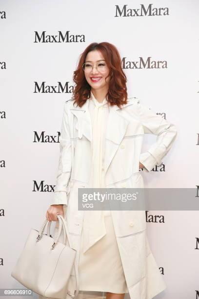 Actress Sammi Cheng attends Max Mara store opening ceremony on June 15 2017 in Hong Kong Hong Kong