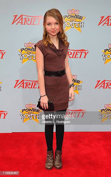 Actress Sammi Hanratty arrives at Variety's 3rd annual 'Power of Youth' event held at Paramount Studios on December 5 2009 in Los Angeles California