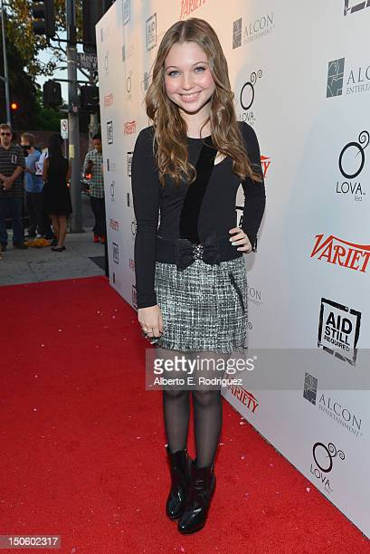 Actress Sammi Hanratty arrives to 'The Big Easy Juke Joint' party hosted by Aid Still Required and sponsored by Variety at Bugatta on August 22 2012...