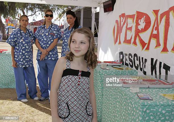 Actress Sammi Hanratty poses before the event starts at the Arizona State Fair on November 3 2007 in Phoenix Arizona
