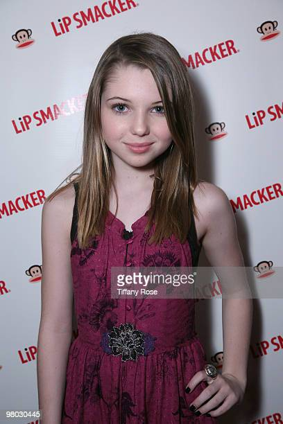 Actress Sammi Hanratty with Lipsmacker at Melanie Segal's Kids Choice Lounge for Save the Children Day 1 at The Magic Castle on March 24 2010 in Los...