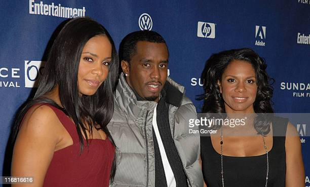Actress Sanaa Lathan actormusician Sean 'Diddy' Combs and actress Audra McDonald attend the premiere of 'A Raisin In The Sun' at the Eccles Theatre...