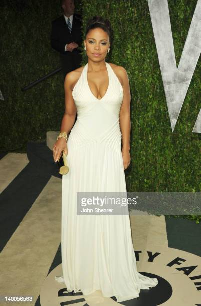 Actress Sanaa Lathan arrives at the 2012 Vanity Fair Oscar Party hosted by Graydon Carter at Sunset Tower on February 26 2012 in West Hollywood...
