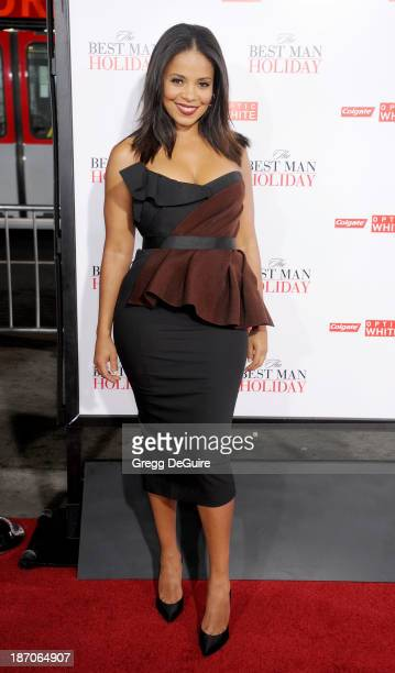 Actress Sanaa Lathan arrives at the Los Angeles premiere of The Best Man Holiday at TCL Chinese Theatre on November 5 2013 in Hollywood California